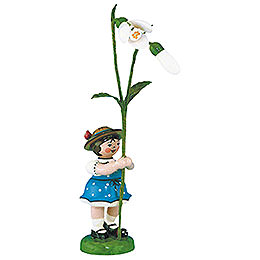 Flower Girl with Snowdrops  -  11cm / 4,3 inch