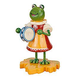 Frosch  -  Mädchen mit Tamburin  -  8cm
