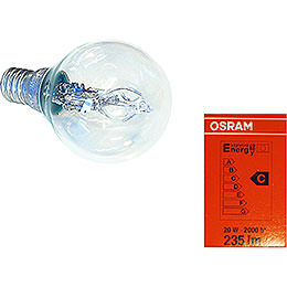 Halogen Light Bulb for Indoor Stars 29 - 00 - I4 Bis 29 - 00 - I8, E14, 20W