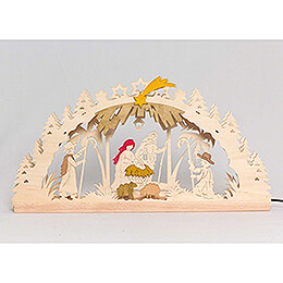 Handicraft Set  -  Candle Arch  -  Nativity  -  55x27cm / 21.7x10.6 inch