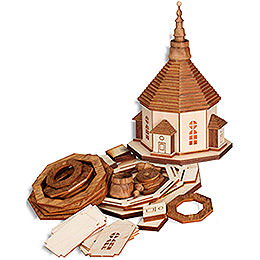 Handicraft Set Church of Seiffen with Lights  -  17cm / 6.7 inch
