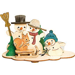 Handicraft Set  -  Tea Light Holder  -  Snowman  -  10,5cm / 4.1 inch