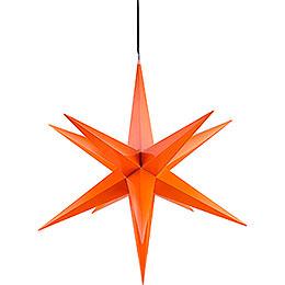 Hasslau Christmas Star  -  Orange and Lighting  -  75cm / 30 inch  -   Inside/Outside Use