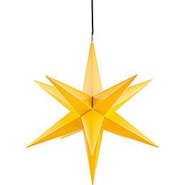 Hasslau Christmas Star  -  Yellow and Lighting  -  65cm / 25.6 inch  -  Inside Use