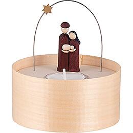 Heilige Familie Teelichtset farbig  -  11cm