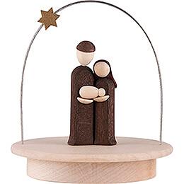 Heilige Familie mit Sternenbogen auf Sockel natur  -  8,5cm