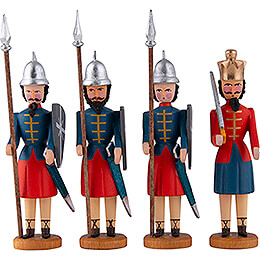 Herod and three Soldiers  -  10cm / 3.9 inch