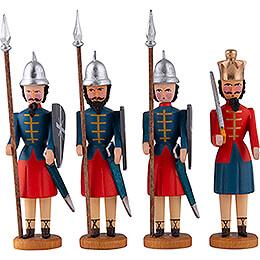 Herodes und drei Kriegsknechte  -  10cm