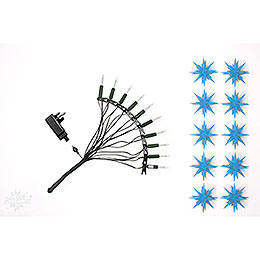 Herrnhuter LED - Sternenkette A1s blau Kunststoff  -  14 m