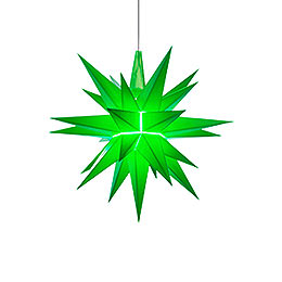 Herrnhuter Moravian Star A1e Green Plastic  -  13cm/5.1 inch