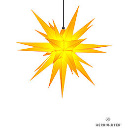 Herrnhuter Moravian Star A7 Yellow Plastic  -  68cm/27 inch