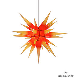 Herrnhuter Moravian Star I7 Yellow with Red Core Paper  -  70cm / 27.6 inch