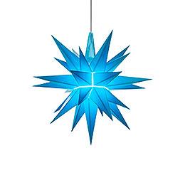 Herrnhuter Stern A1e blau Kunststoff  -  13cm