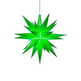 Herrnhuter Stern A1e grün Kunststoff  -  13cm