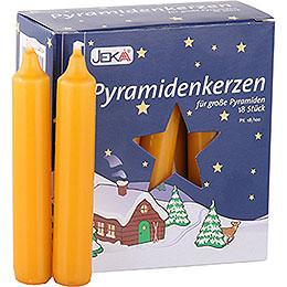 Hochwertige Pyramidenkerzen honigfarben  -  1,7cm Durchmesser