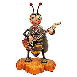 Hummelmännchen mit E - Gitarre  -  8cm
