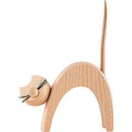 Katze natur  -  stehend   -  13cm
