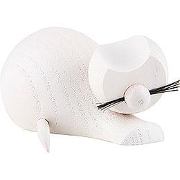 Katze weiß  -  sitzend  -  4cm