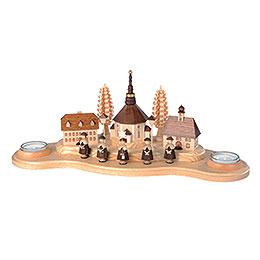 Kerzenhalter Seiffener Dorf  -  16cm