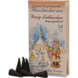 Knox Räucherkerzen  -  Original Erzgebirgische Räucherkerzen  -  Honig - Lebkuchen