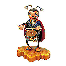 Ladybug with Drum  -  8cm / 3 inch