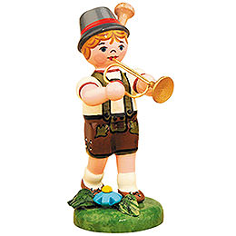 Lampion Child Boy with Trumpet  -  8cm / 3 inch