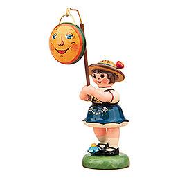 Lampionkind Mädchen mit Mond  -  8cm