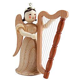 Langrockengel mit Harfe, natur  -  6,6cm