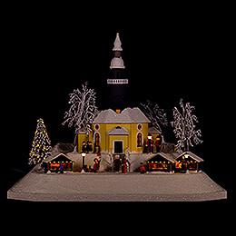 Lichterhaus Weihnachtsmarkt, LED  -  26cm