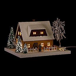 Light House Ore Mountains Home Ocherous  -  11,5cm / 4.5 inch