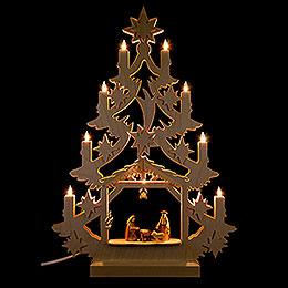 Light Triangle  -  Christmas Tree  -  47x34x5,5cm / 18x13x2 inch