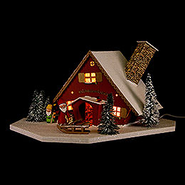 Lighted House Dwarves' Workshop  -  19cm / 7.5 inch