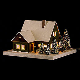 Lighted House Forester's Lodge  -  11,5cm / 4.5 inch