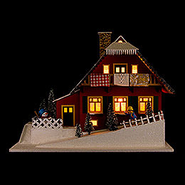 Lighted House Mountainside House  -  29,5cm / 11.6 inch