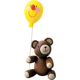 Lucky Bear with Balloon  -  5,5cm / 2.7 inch