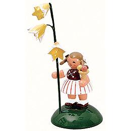 Mädchen mit Glockenblume  -  6cm