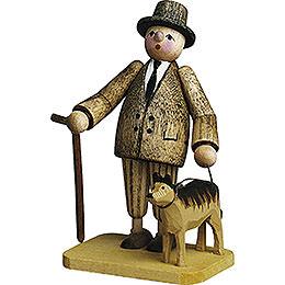 Man with Dog  -  7cm / 2.8 inch