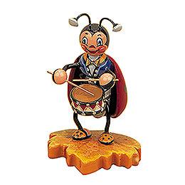 Marienkäfer mit Trommel  -  8cm
