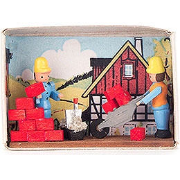 Matchbox  -  Bricklayer  -  4cm / 1.6 inch