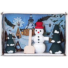 Matchbox  -  Snowman  -  4cm / 1.6 inch