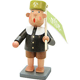 Miner Bengelchen with Flag  -  6,5cm / 3 inch