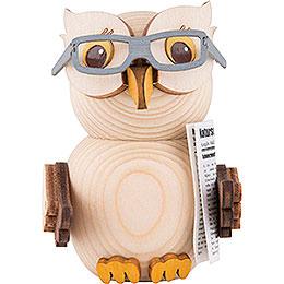 Mini - Eule mit Brille  -  7cm