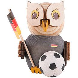 Mini - Eule mit Fußball  -  7cm
