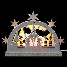 Mini LED Lightarch  -  Seiffen Church  -  23x15x4,5cm / 9x6x2 inch