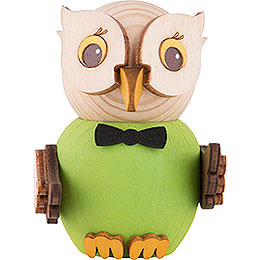 Mini Owl Green  -  7cm / 2.8 inch