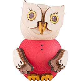 Mini Owl Red  -  7cm / 2.8 inch