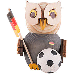 Mini Owl with Football  -  7cm / 2.8 inch