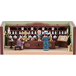 Miniature Room  -  Pharmacy with Pharmacist  -  4cm / 1.6 inch