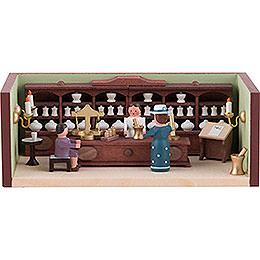 Miniaturstübchen Apotheke mit Apothekerin  -  4cm