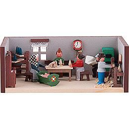 Miniaturstübchen Spielzeugmacherstube  -  4cm